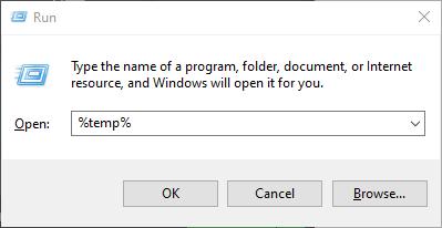 write temp in run menu