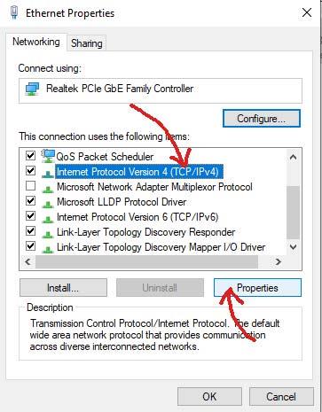 find IPv4 settings
