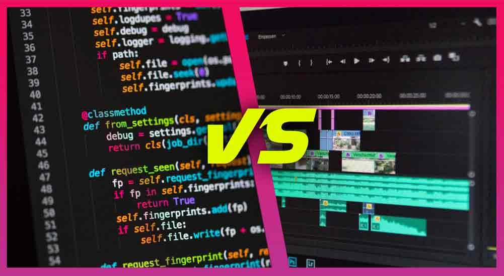 coding vs video editing